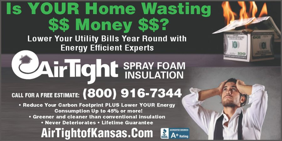 Airtight of Kansas 2019-02 FEB home insulation Wichita KS, Newton Ks, Hutchinson KS, home improvement
